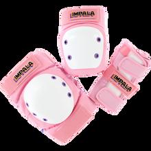 Impala Rollerskates - Kids Protective Pack Pad Set Junior S-pink - Skateboard Pads