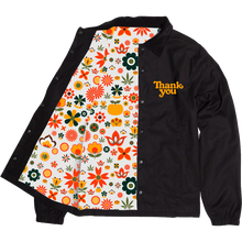 Thank you - You Flower Power Jacket Xl-blk/gold
