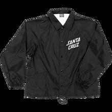 Santa Cruz - Slant Strip Coach Widnbreaker M-black/wht