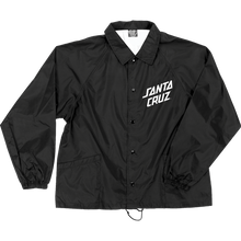 Santa Cruz - Slant Strip Coach Widnbreaker Xl-black/wht