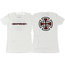 Independent - Bar/cross Girls Ss S-white