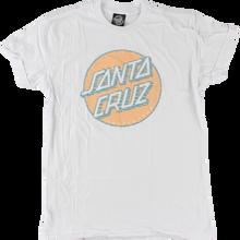 Santa Cruz - Lined Dot Girls Ss L-white