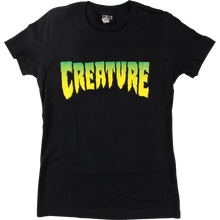 CREATURE - Logo Girls Ss L-black