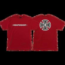 Independent - Bar/cross Ss S-cardinal Red - T-shirt