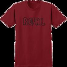 Real - Deeds Ss L-cardinal/blk - T-shirt