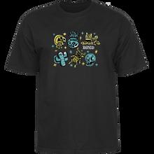 Bones Wheels - Earth Rollers Ss S-black - T-shirt