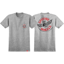 Spitfire - Flying Classic Pocket Ss S-athletic Htr/rd/bk - T-shirt