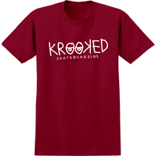 KROOKED - Krooked Eyes Ss Xl-red/wht - T-shirt