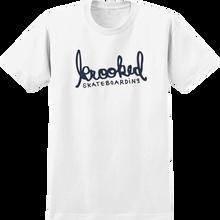 KROOKED - Skript Ss S-wht/navy - T-shirt