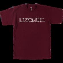 LOWCARD - Standard Line Ss M-maroon/wht - T-shirt