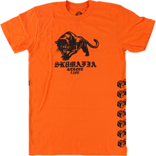 SKATE MAFIA - Street Life Ss S-orange - T-shirt