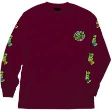 Santa Cruz - Tmnt Sewer Dot L/s S-burgundy