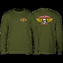 Powell Peralta - Winged Ripper L/s S-military Green