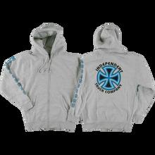 Independent - Bauhaus Cross Zip Hd/swt M-grey Heather/blu - Skateboard Sweatshirt