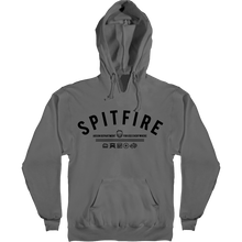 Spitfire - Burn Division Hd/swt M-charcoal/black - Skateboard Sweatshirt