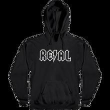 Real - Deeds Outline Hd/swt L-black/wht - Skateboard Sweatshirt