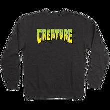 CREATURE - Logo Crew/swt L-charcoal Heather - Skateboard Sweatshirt
