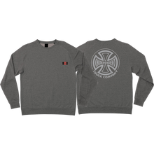 Independent - Sub Crew/swt S-nickel Grey Heather - Skateboard Sweatshirt