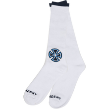 Independent - B/c Primary Crew Socks Wht 1pr - Skateboard Socks