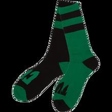 CREATURE - Flip Floppers Crew Socks Blk/grn 1pr - Skateboard Socks