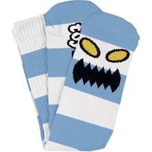 Toy Machine - Monster Big Stripe Crew Socks Lt.blue 1pr - Skateboard Socks