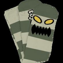 Toy Machine - Monster Big Stripe Crew Socks Green 1pr - Skateboard Socks