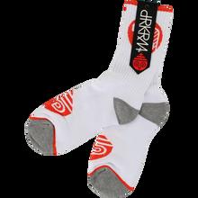 Darkroom - Pod Crew Socks White 1pr - Skateboard Socks