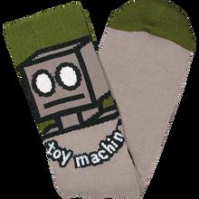 Toy Machine - Robot Crew Socks Sand 1pr - Skateboard Socks