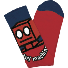 Toy Machine - Robot Crew Socks Red 1pr - Skateboard Socks
