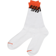 Bronson Speed Co - Starting Line Crew Socks White 1pr - Skateboard Socks