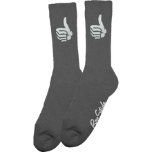 Bro Style - Style Trademark Crew Socks Grey 1pr - Skateboard Socks
