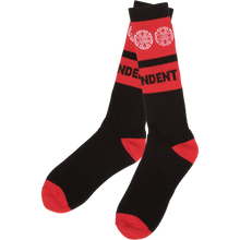 Independent - Woven Crosses Crew Socks Black 1pr - Skateboard Socks