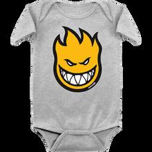 Spitfire - Baby Big Bighead Fill Romper 18m-hthr.grey/yel
