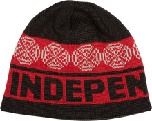 Independent - Woven Crosses Beanie-char/red/blk/wht