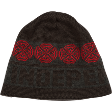 Independent - Woven Crosses Beanie-ebony/hthr.grey/lipstick