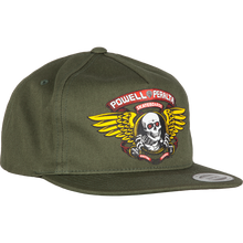 Powell Peralta - Winged Ripper Patch Hat Adj-military Green