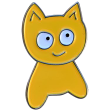 Meow - Cat Lapel Pin