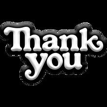 Thank you - You Logo Pin