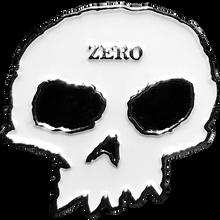 Zero - Skull Enamel Pin Wht/blk