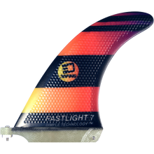"3D Fins - Fastlight Single Fin 7.0"" Blk/org Fade - Surfboard Fins"