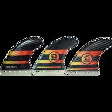 3D Fins - Fastlight Thruster 5.0 Med Full-base Blk/yel/rd - Surfboard Fins