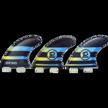 3D Fins - Fastlight Thruster 4.0 Sm Twin-tab Blk/lt.blue - Surfboard Fins