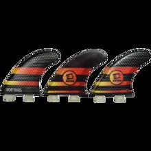 3D Fins - Fastlight Thruster 5.0 Med Twin-tab Blk/yel/rd - Surfboard Fins