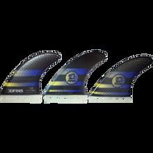 3D Fins - Fastlight Thruster 7.0 Lg Full-base Blk/blue - Surfboard Fins