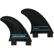 Shapers Australia - Australia S-2 Fcs Side Bite Blk Set 2pc - Surfboard Fins