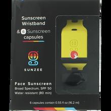 Sunzee - Sunscreen Wristband+6 Capsules Spf50 Yel