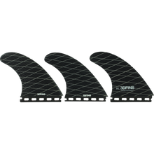 3d Fins - Freedom Xlg Futures Base Blk/grey - Surfboard Fins