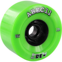Abec 11 - Flywheels Refly 97mm 77a Lime/blk - Skateboard Wheels (Set of Four)
