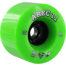 Abec 11 - Superflys 107mm 74a Lime/blk - Skateboard Wheels (Set of Four)