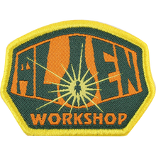 Alien Workshop - Og Logo Patch Org/blk/gold